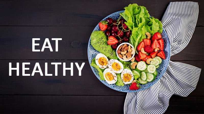 Improve your diet by eating healthy